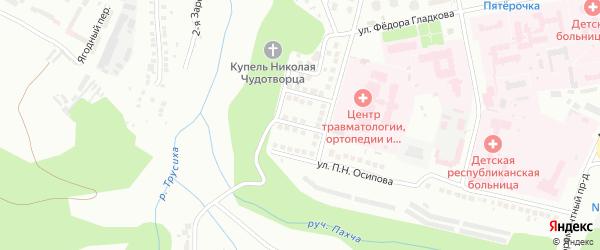 Улица Василия Токсина на карте Чебоксар с номерами домов