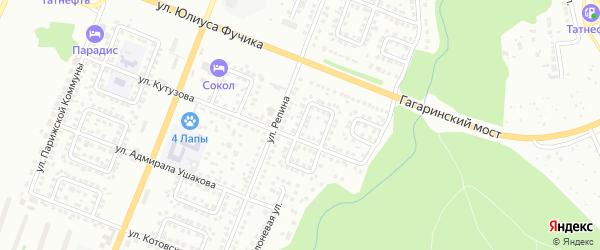 Улица Салтыкова-Щедрина на карте Чебоксар с номерами домов
