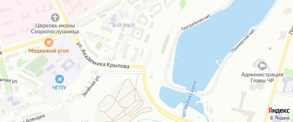 Улица Б.С.Маркова на карте Чебоксар с номерами домов
