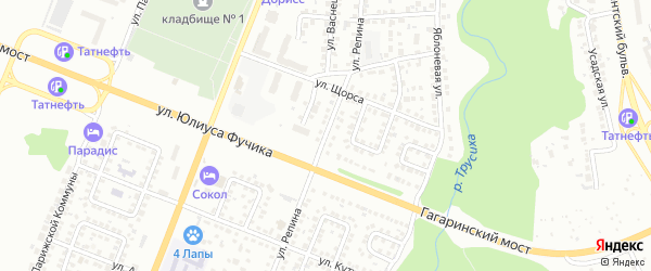 Улица Репина на карте Чебоксар с номерами домов