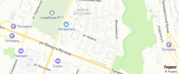Улица Щорса на карте Чебоксар с номерами домов