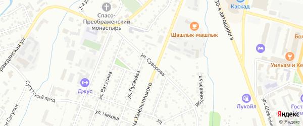 Улица Полководца Суворова на карте Чебоксар с номерами домов