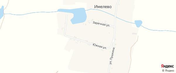 Южная улица на карте деревни Имелево с номерами домов