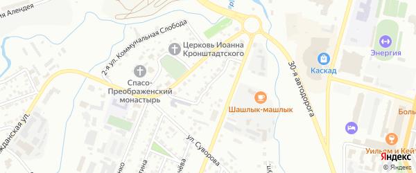 Переулок Бакунина на карте Чебоксар с номерами домов
