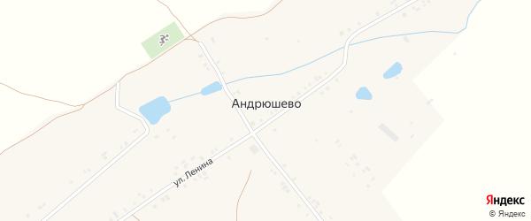 Комсомольская улица на карте деревни Андрюшево с номерами домов