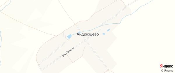 Карта деревни Андрюшево в Чувашии с улицами и номерами домов