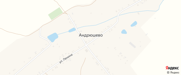 Улица Кирова на карте деревни Андрюшево с номерами домов