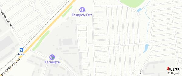 Территория сдт Азамат на карте Чебоксар с номерами домов