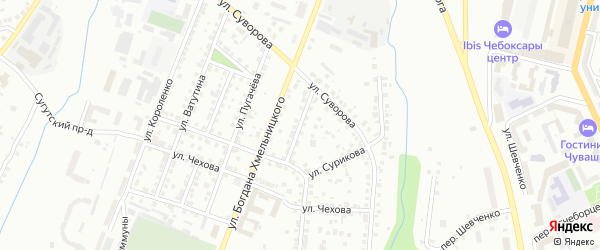 Улица Разина на карте Чебоксар с номерами домов