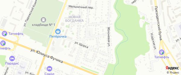 Улица П.Алексеева на карте Чебоксар с номерами домов