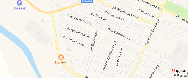 Улица Буденного на карте Харабали с номерами домов