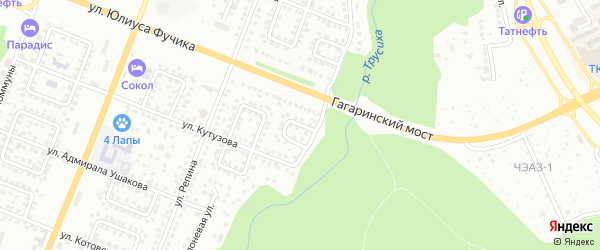 Улица 8 Марта на карте Чебоксар с номерами домов