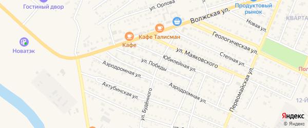 Улица Победы на карте Харабали с номерами домов