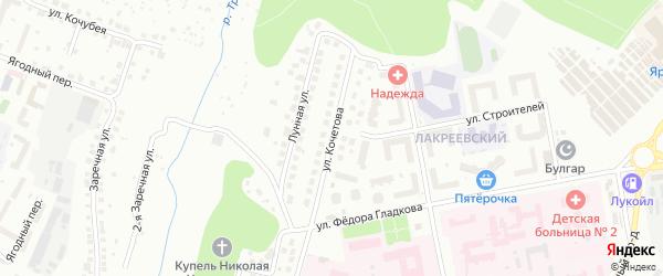 Улица Кочетова на карте Чебоксар с номерами домов