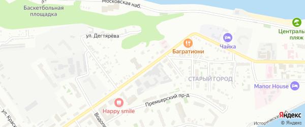 Улица Константина Иванова на карте Чебоксар с номерами домов