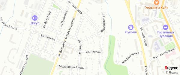 Улица Сурикова на карте Чебоксар с номерами домов