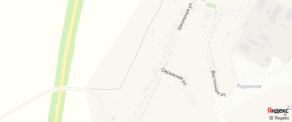 Овражная улица на карте деревни Сятракасы (Сарабакасинского с/п) с номерами домов