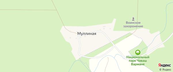Речная улица на карте поселка Муллиной с номерами домов