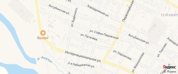 Улица Пугачева на карте Харабали с номерами домов