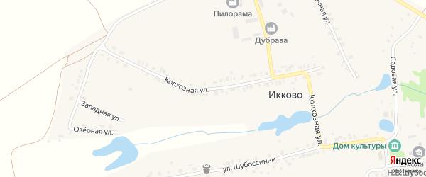 Колхозная улица на карте села Икково с номерами домов