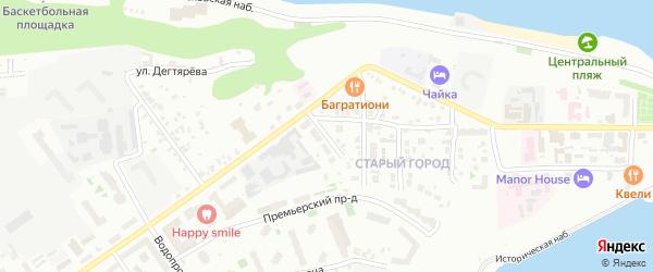 Заводской переулок на карте Чебоксар с номерами домов