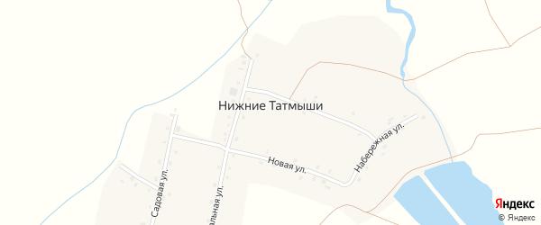 Садовая улица на карте деревни Нижние Татмыши с номерами домов