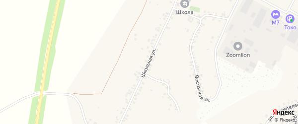 Школьная улица на карте деревни Сятракасы (Сарабакасинского с/п) с номерами домов
