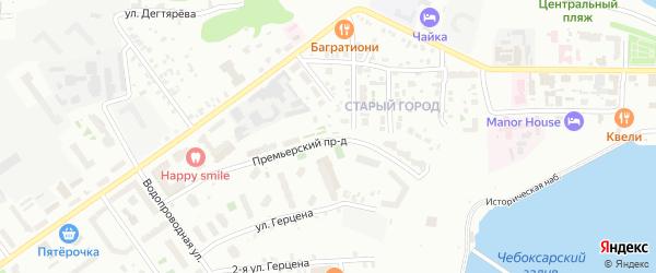Улица Односторонка на карте Чебоксар с номерами домов