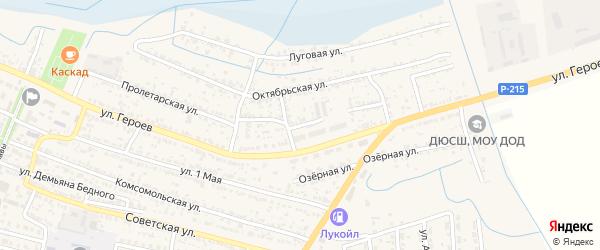 Заводской переулок на карте поселка Лимана с номерами домов