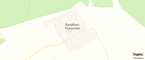Карта деревни Балабаш-Нурусово в Чувашии с улицами и номерами домов