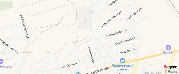 Электрическая улица на карте Харабали с номерами домов