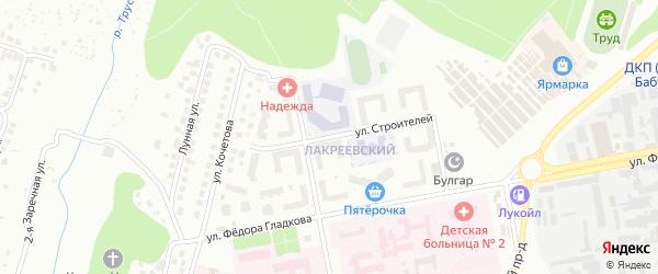 Улица Строителей на карте Чебоксар с номерами домов