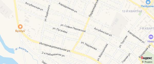 2-й Степной переулок на карте Харабали с номерами домов