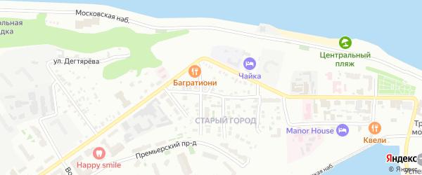 Безымянный переулок на карте Чебоксар с номерами домов