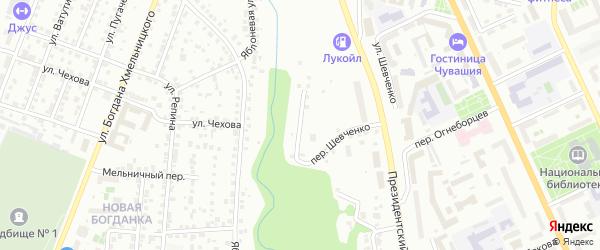 Интернациональная улица на карте Чебоксар с номерами домов