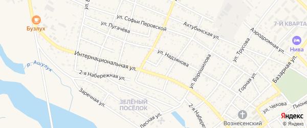 Кооперативная улица на карте Харабали с номерами домов