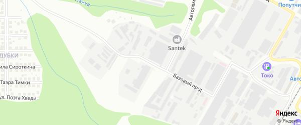 Базовый проезд на карте Чебоксар с номерами домов