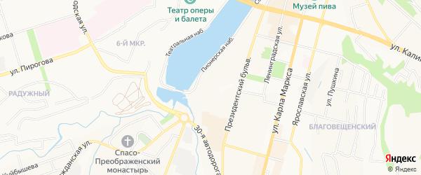 СТ Бажова на карте Чебоксар с номерами домов