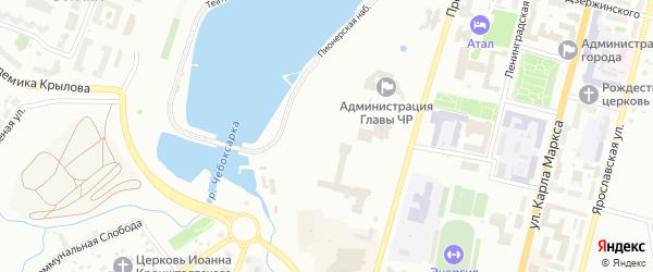 Жемчужная улица на карте Чебоксар с номерами домов