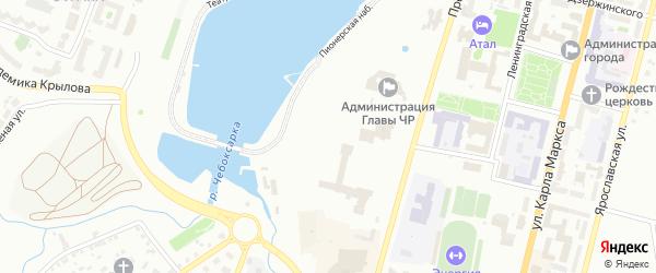 Территория сдт Питомник-1 на карте Чебоксар с номерами домов