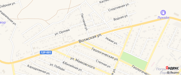 Волжская улица на карте Харабали с номерами домов