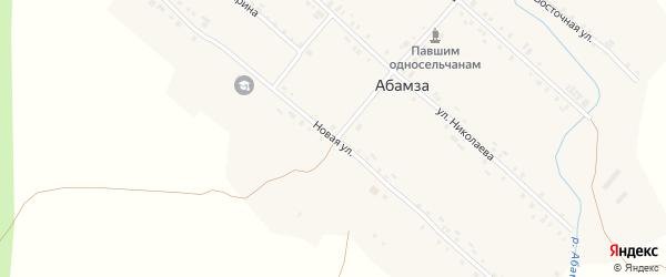 Новая улица на карте деревни Абамзы с номерами домов