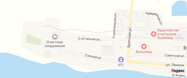 Степная 2-я улица на карте поселка Буруны с номерами домов