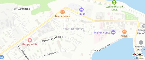 Автономная улица на карте Чебоксар с номерами домов
