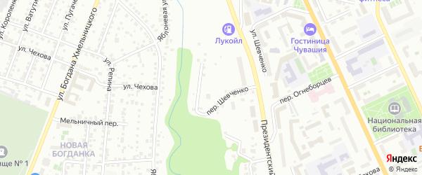 Осоавиахимовская улица на карте Чебоксар с номерами домов