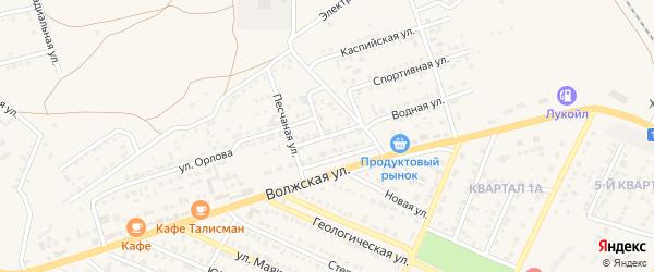 Волжский переулок на карте Харабали с номерами домов