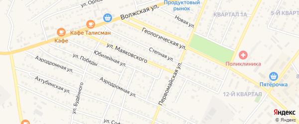 Улица Маяковского на карте Харабали с номерами домов