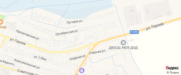 Свободный переулок на карте поселка Лимана с номерами домов