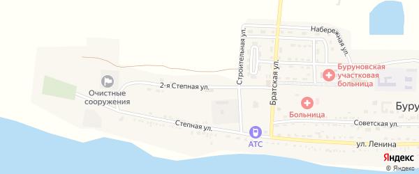 Степная улица на карте поселка Буруны с номерами домов