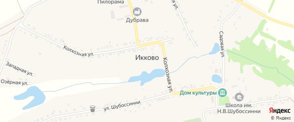 Озерная улица на карте села Икково с номерами домов